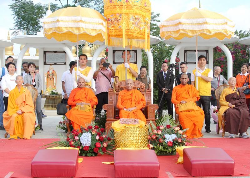 斯里兰卡僧王私人行程访广西都安安福寺